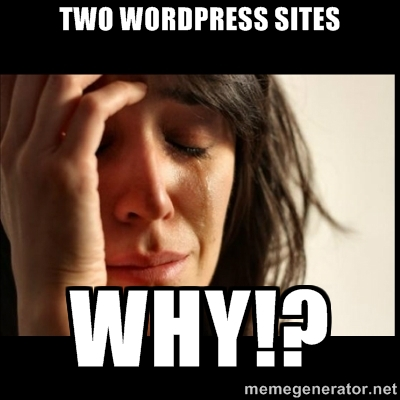 Why Are There Two WP Sites?