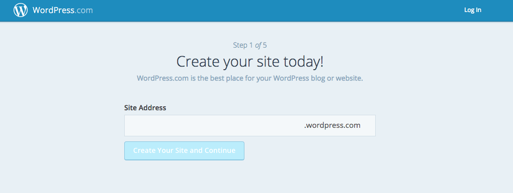 Wordpress.com Signup