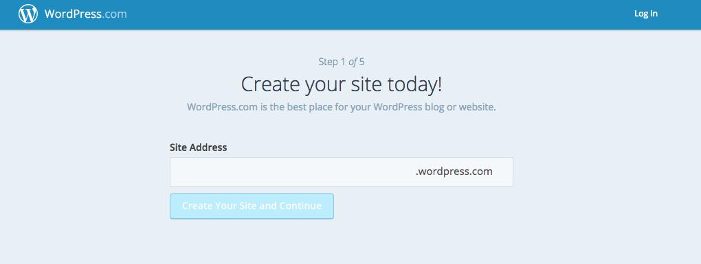 Wordpress.com Signup