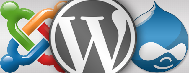 Joomla WordPress Drupal