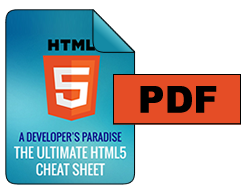 HTML5 Cheat Sheet PDF