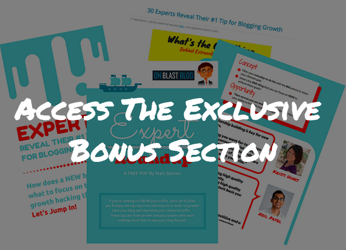 Blog Growth Roundup Bonus