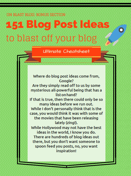 Blog Post Ideas PDF