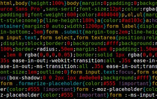 minify javascript & css