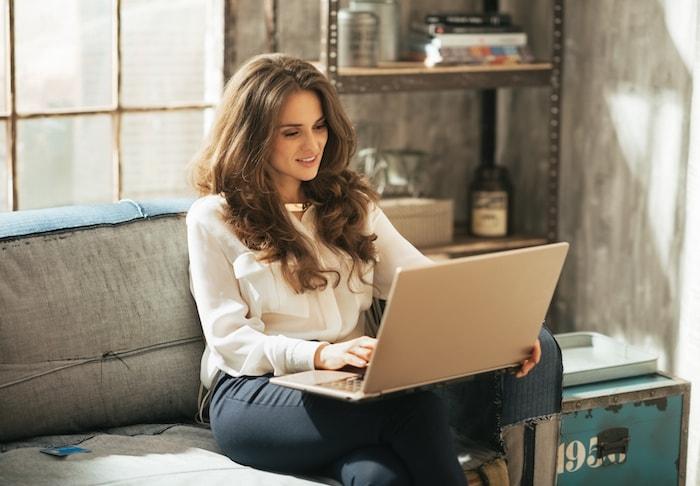 Woman starting a blog