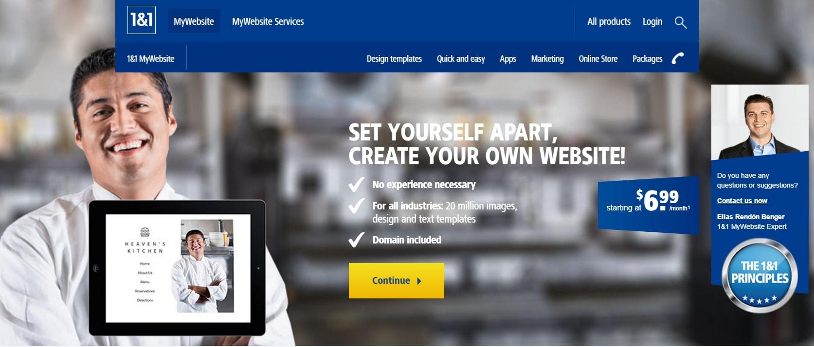 1-and-1-website-builder