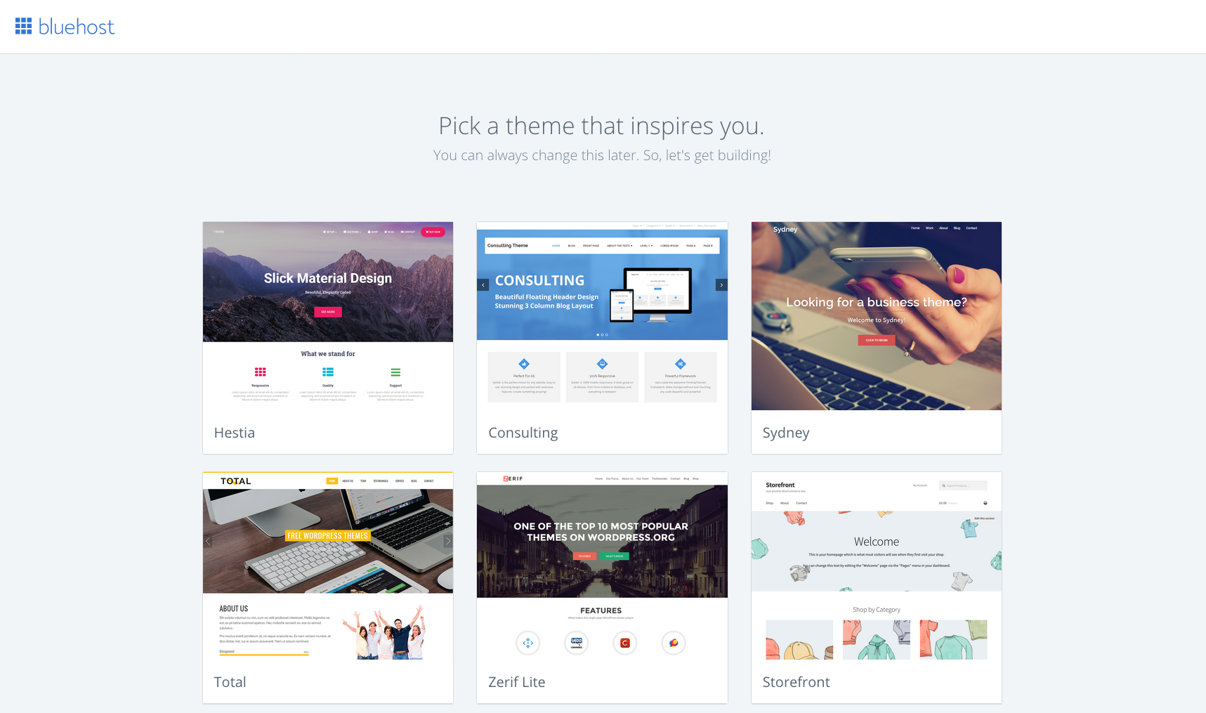 pick a wordpress theme