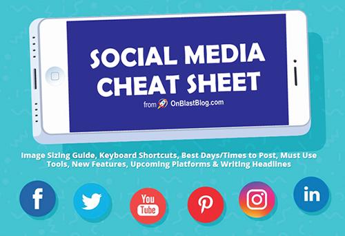 2019] Social Media Image Sizes Cheat Sheet | On Blast Blog