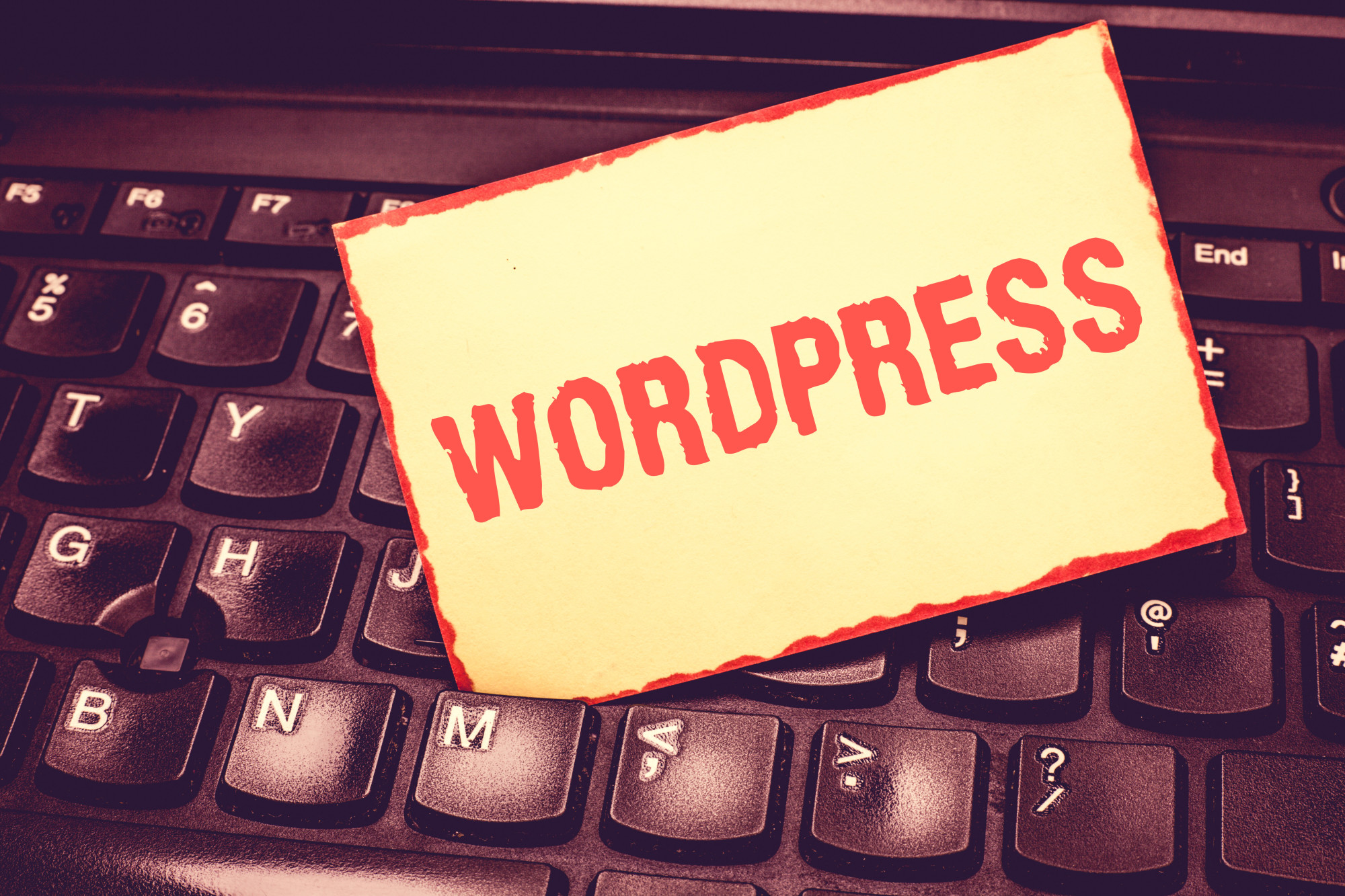 wordpress sign on keyboard