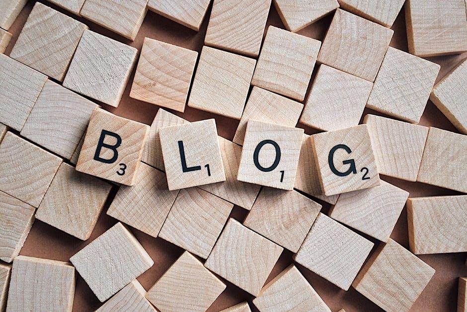 blog letters on tiles