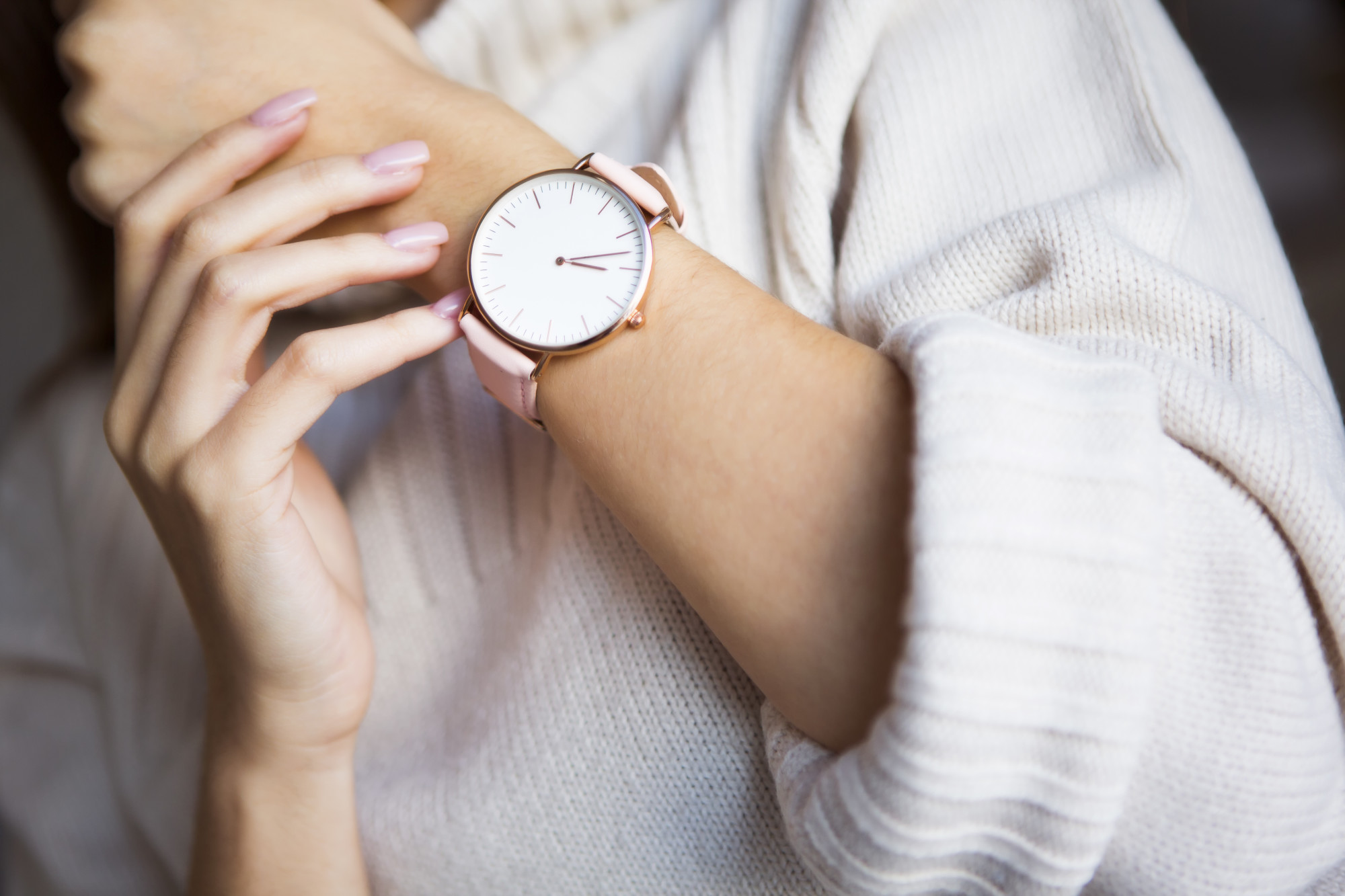 woman wearing watch