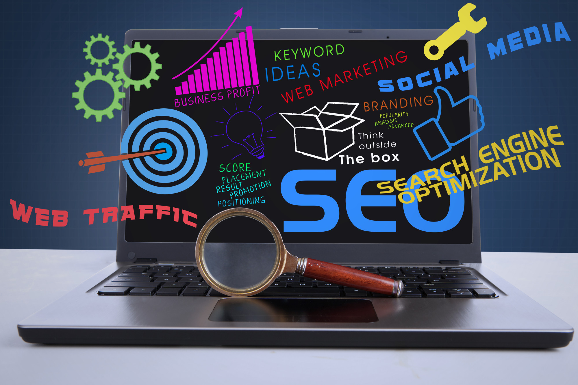 SEO web traffic social media and related terms