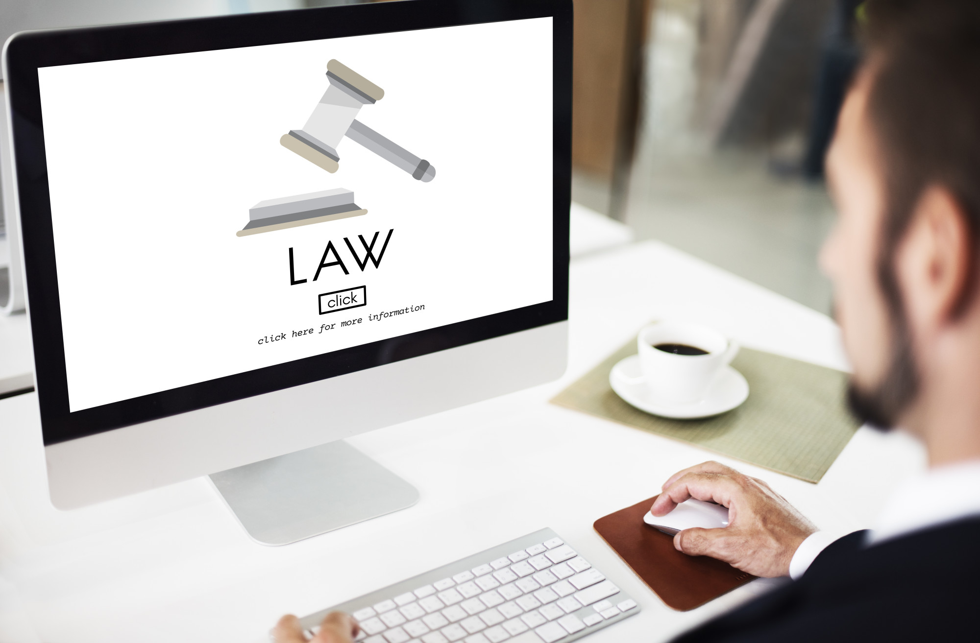 law website on computer