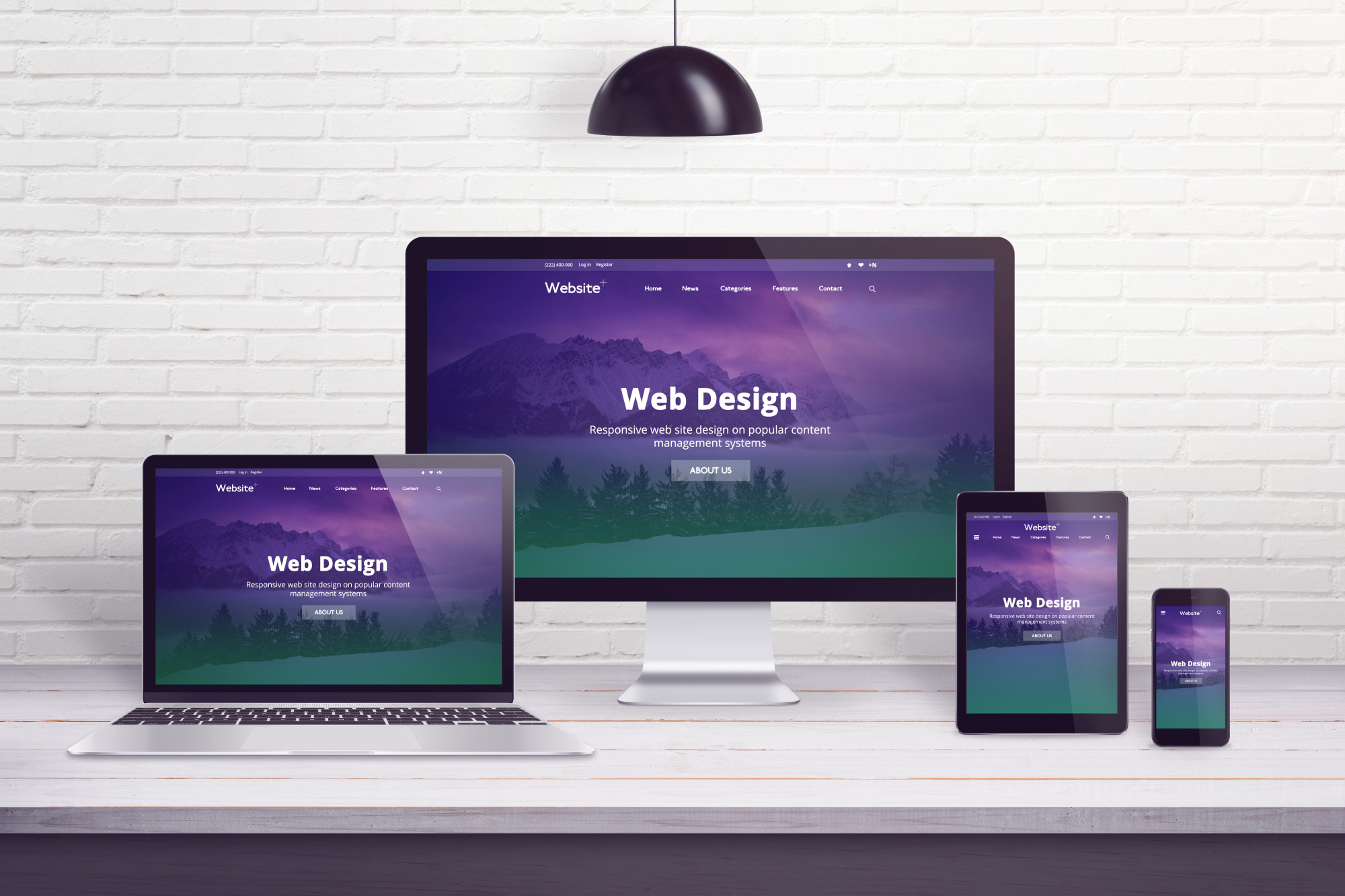 web design site on multiple devices